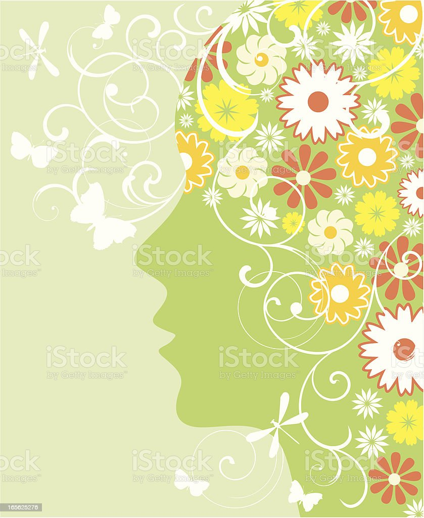 Green woman royalty-free stock vector art