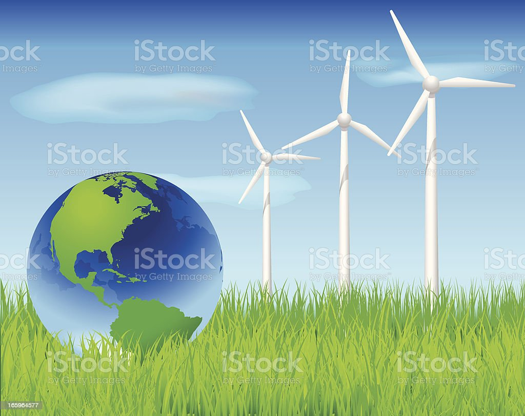 Green World and Alternative Energy royalty-free stock vector art