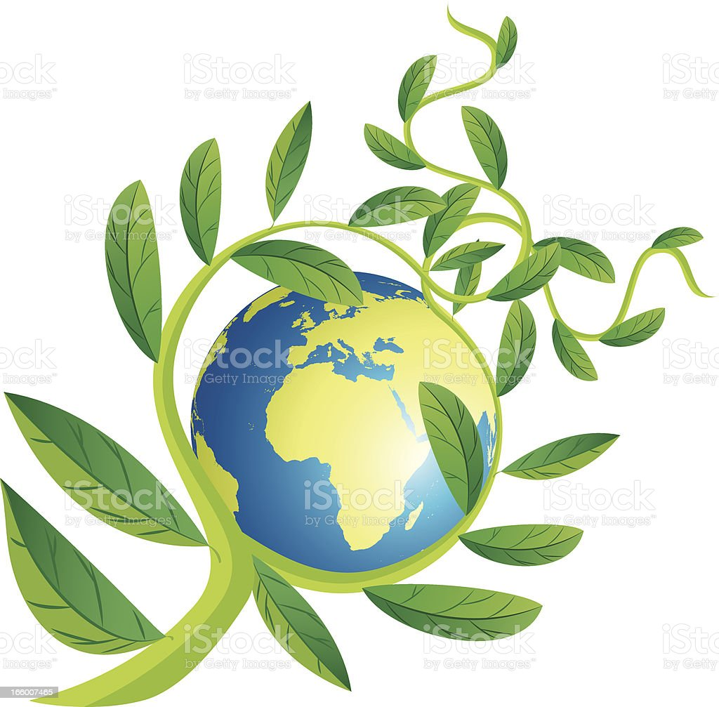 Green World and Plant royalty-free stock vector art
