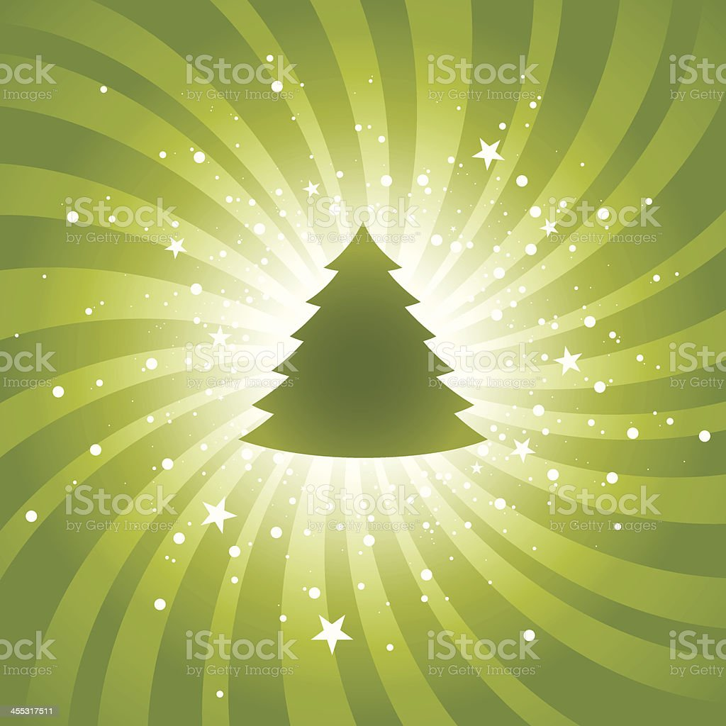 Green Xmas background royalty-free stock vector art