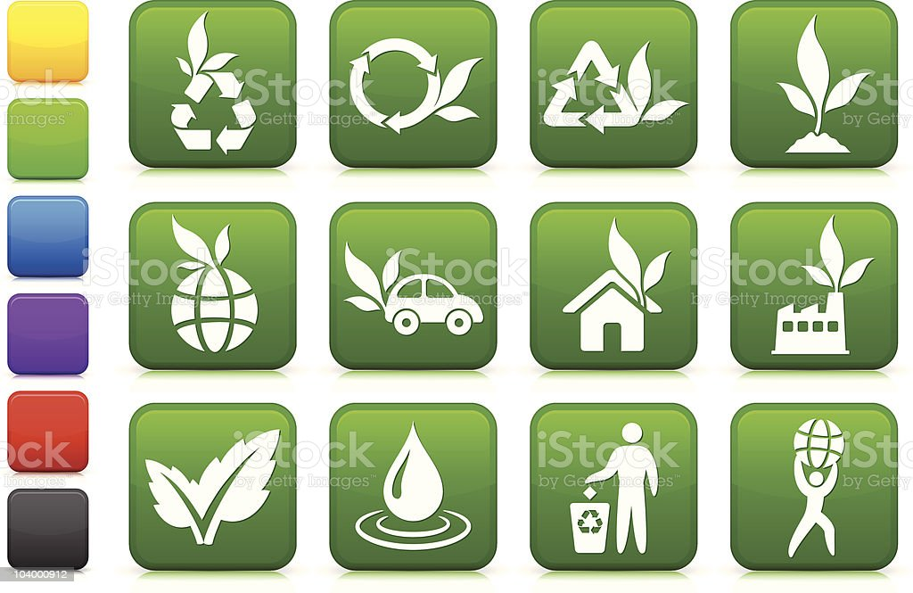 greener environment icon collection royalty-free stock vector art
