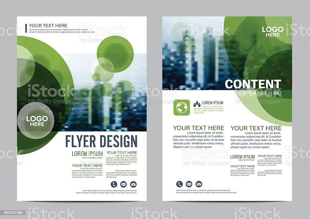 Greenery Brochure Layout flyer design template vector illustration vector art illustration