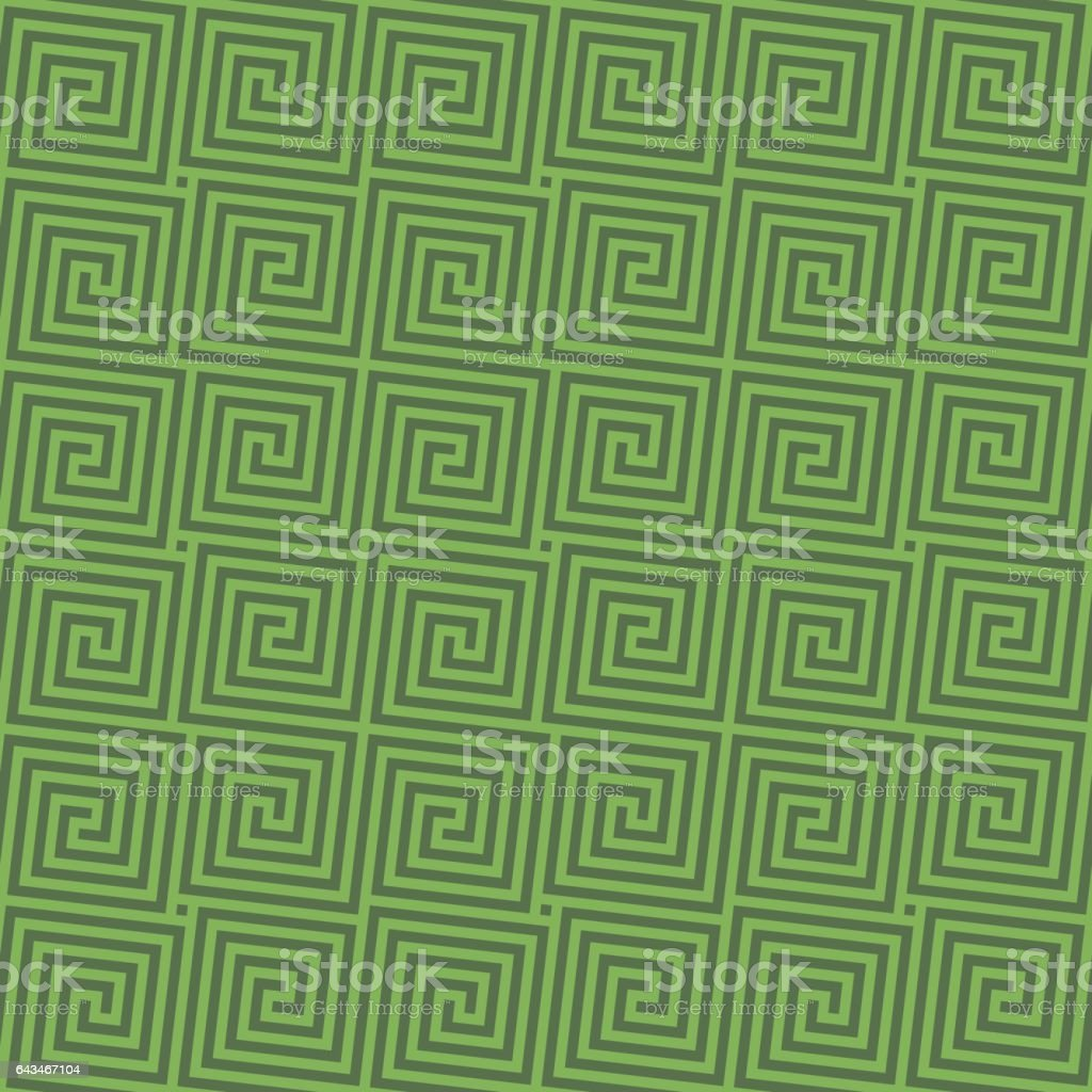 Greenery Classic meander seamless pattern. vector art illustration