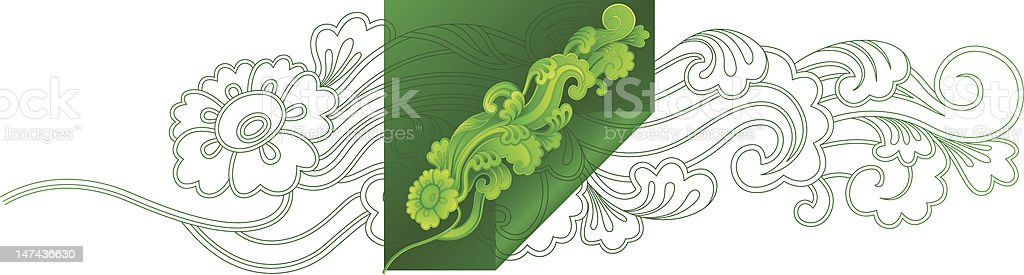 Greenery (vector) royalty-free stock vector art