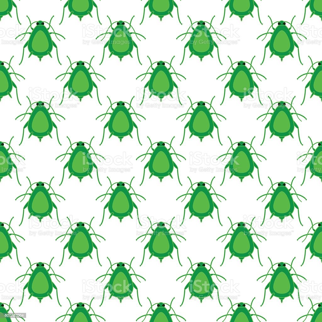 Greenfly insect pattern vector art illustration