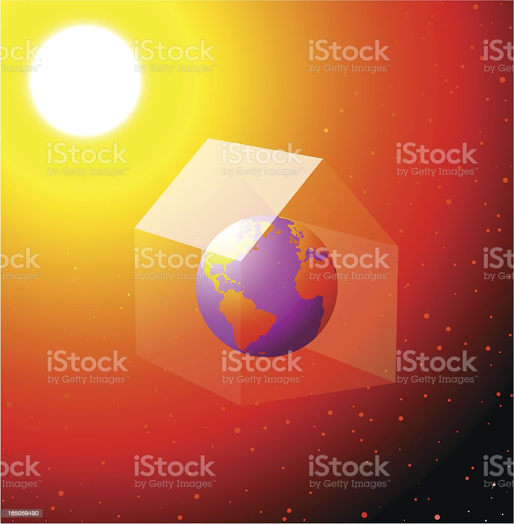 greenhouse effect royalty-free stock vector art