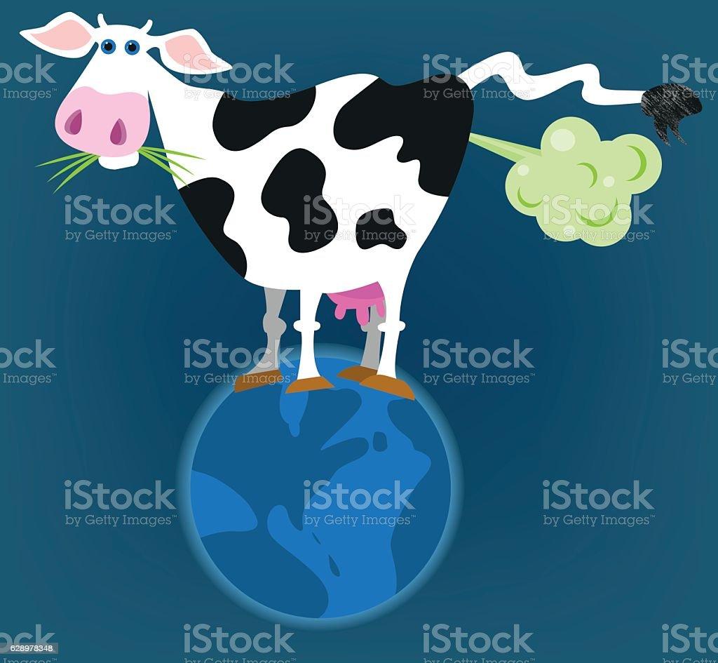 Greenhouse effect vector art illustration