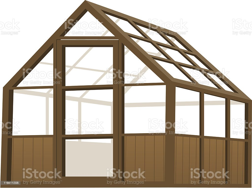 Greenhouse royalty-free stock vector art