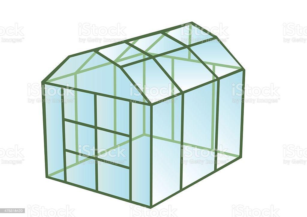 greenhouse vector art illustration