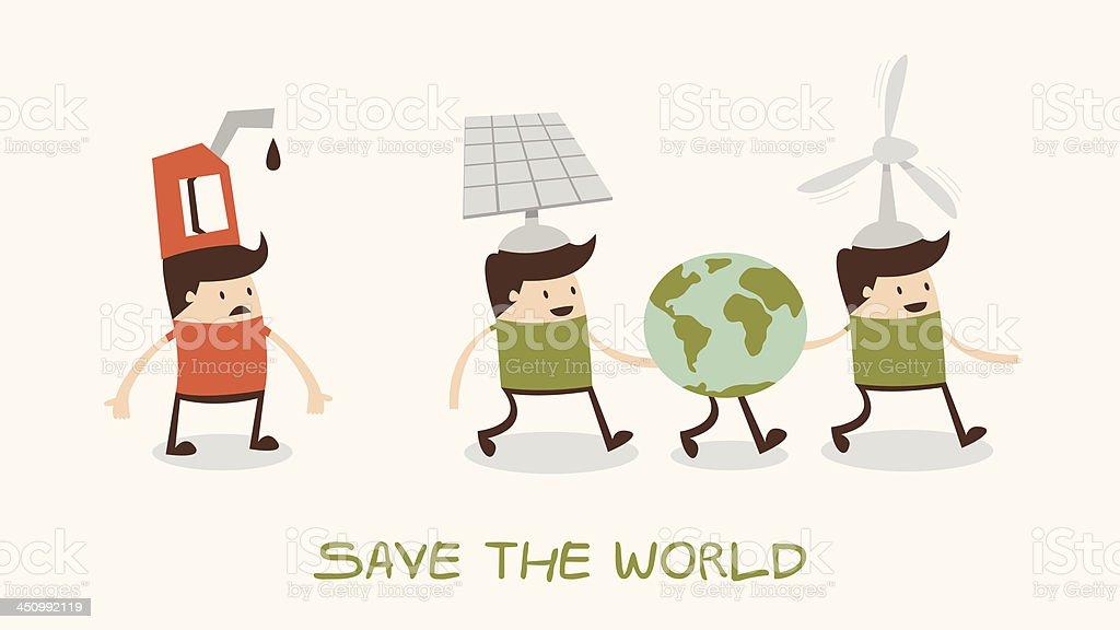 greening of the world royalty-free stock vector art