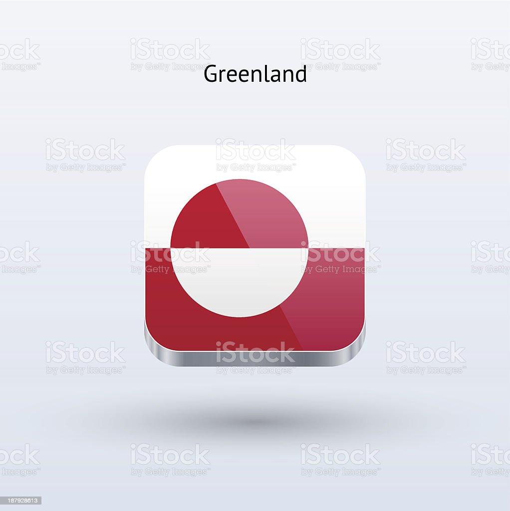Greenland Flag Icon royalty-free stock vector art