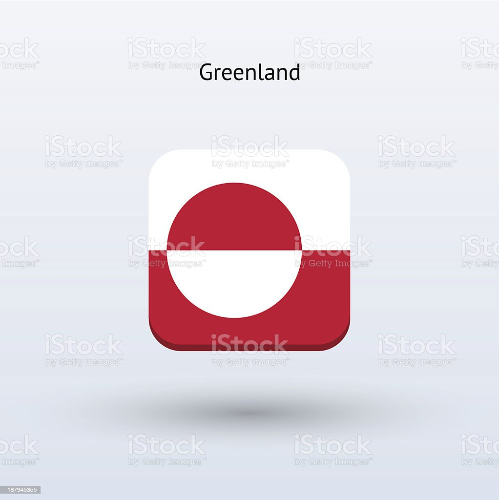 Greenland Flag Icon royalty-free stock vector art