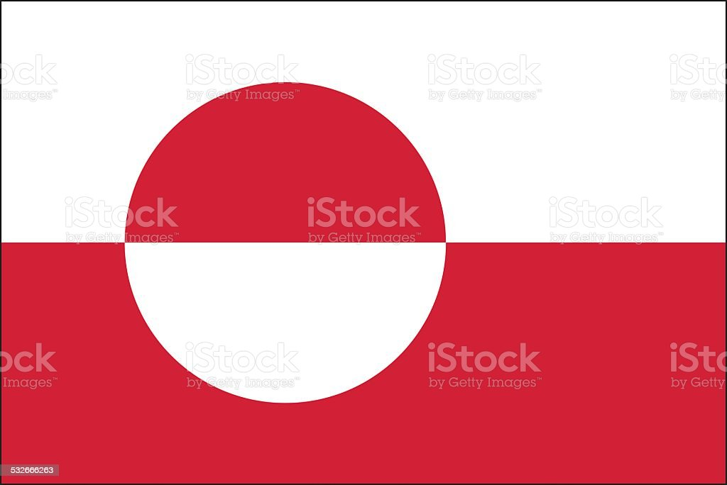 Greenland flag vector art illustration