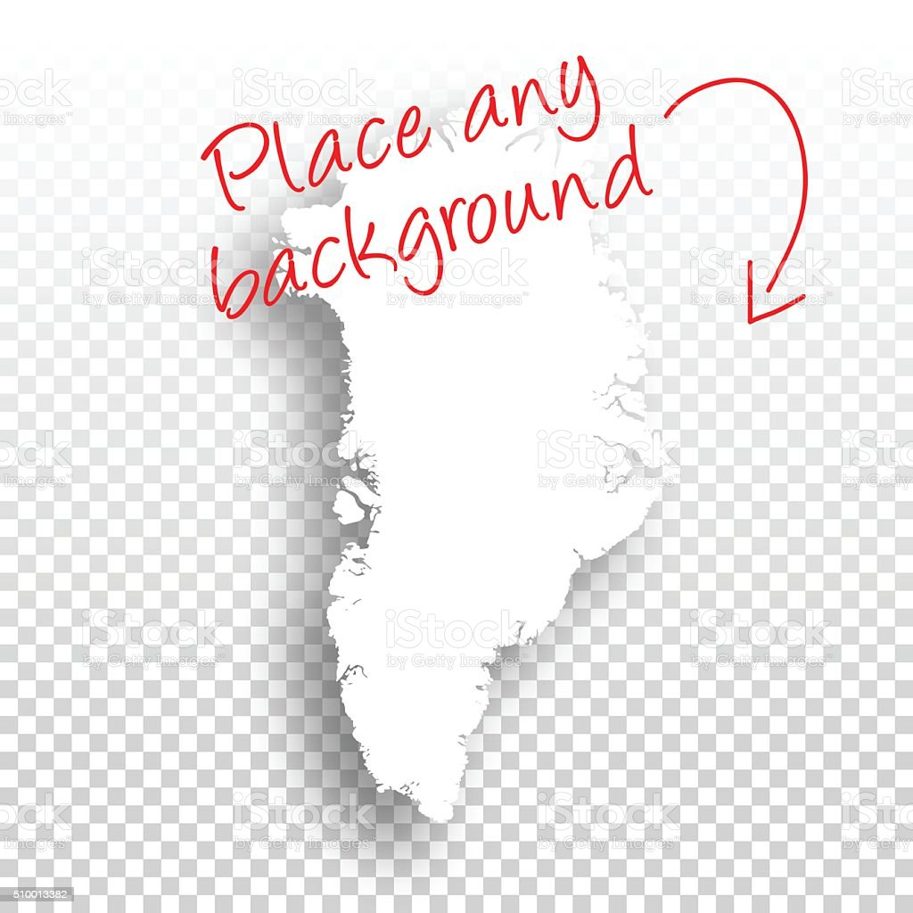 Greenland Map for design - Blank Background vector art illustration