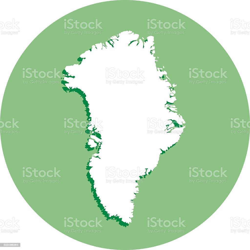 Greenland Round Icon vector art illustration
