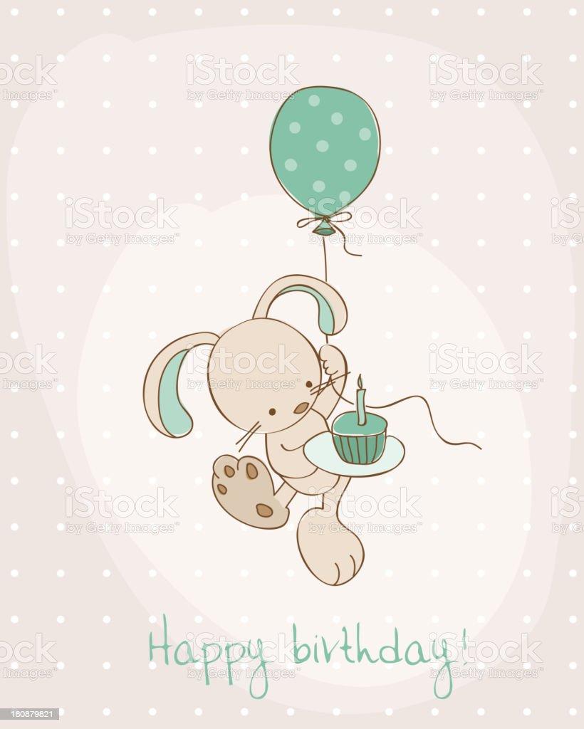 Toll Begrüßung Geburtstag Karte Lizenzfreies Vektor Illustration