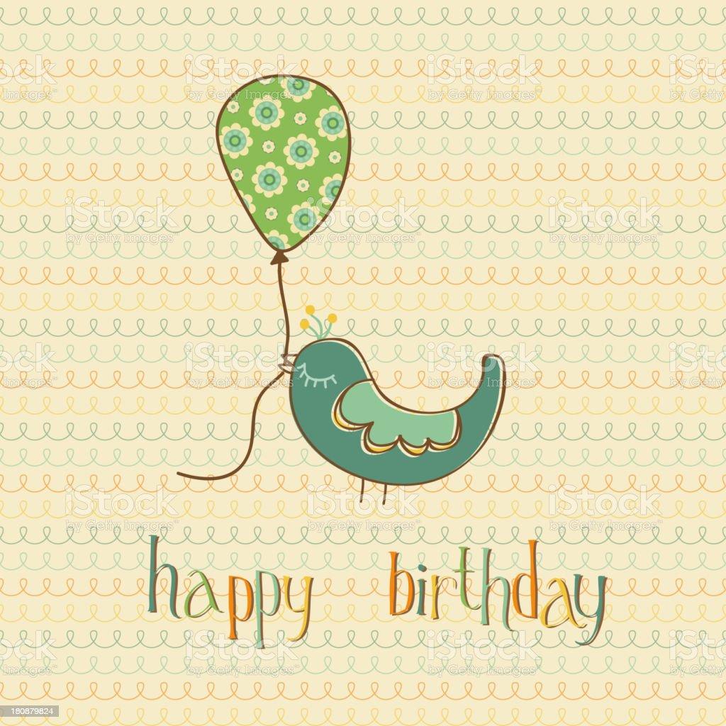 Begrüßung Geburtstag Karte Lizenzfreies Vektor Illustration