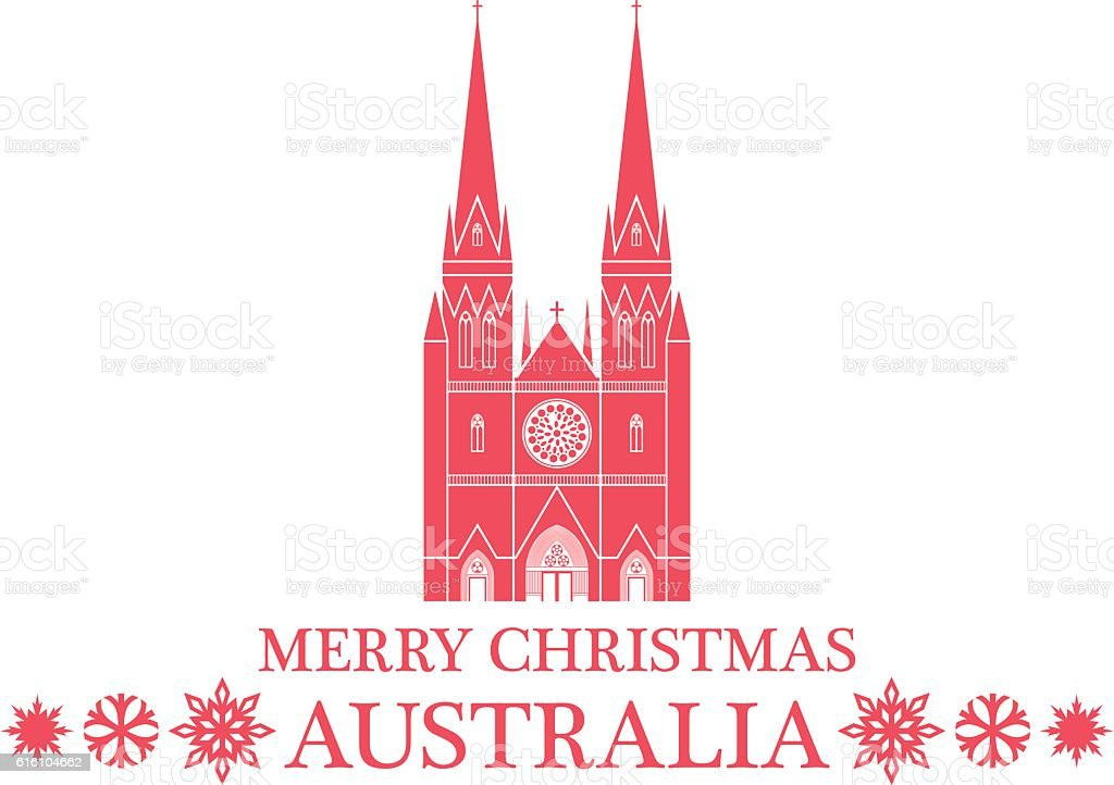 Greeting Card Australia vector art illustration