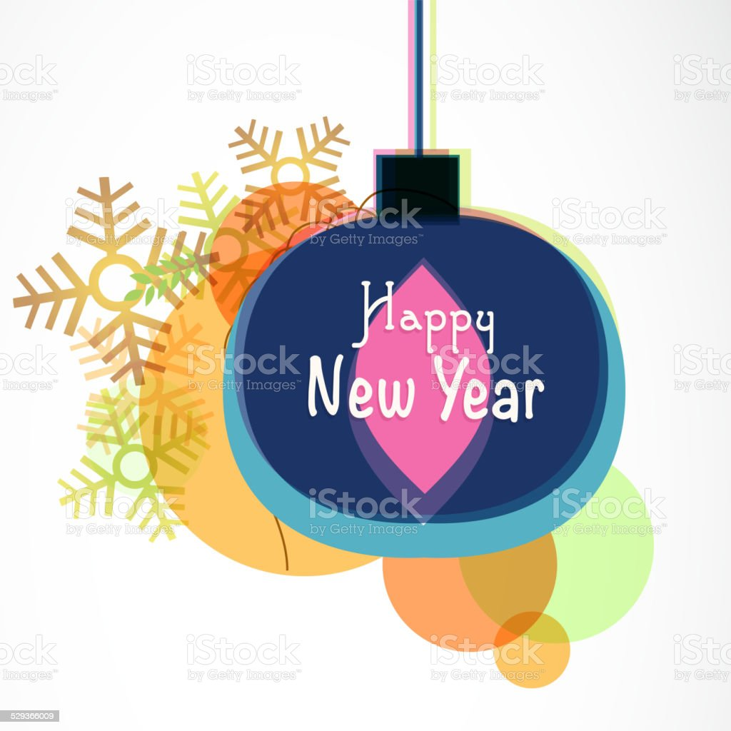 Greeting Card Design For Happy New Year 2015 Celebrations Stock