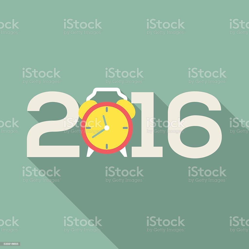 2016 Greeting Card Flat Design vector art illustration