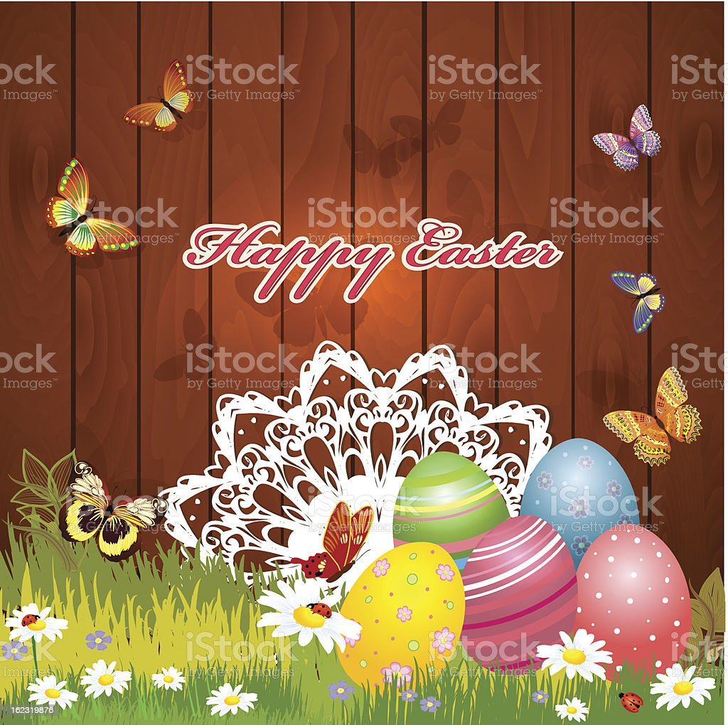 greeting card for Easter royalty-free stock vector art