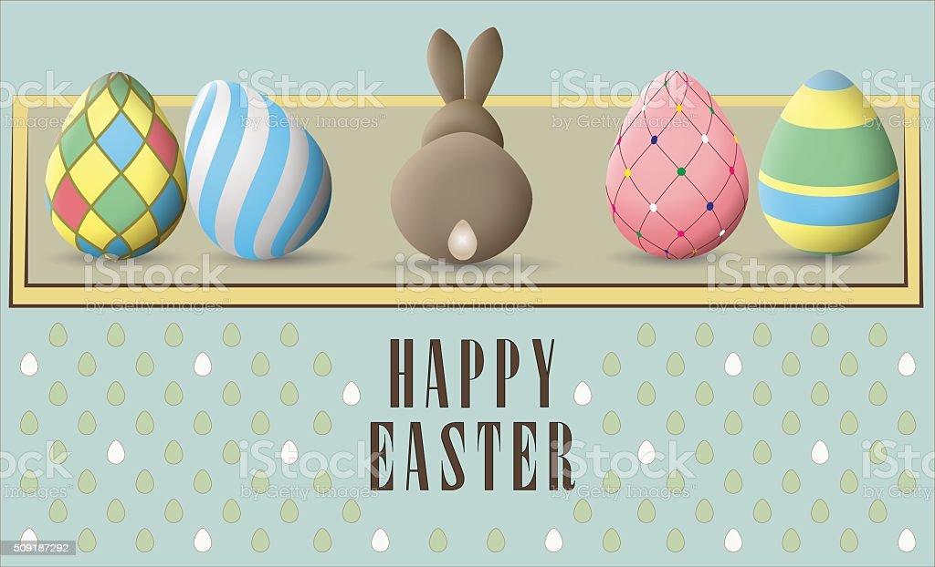Greeting card for Easter vector art illustration