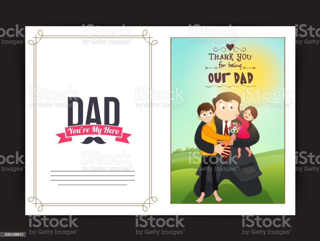 Greeting Card for Father's Day celebration. vector art illustration