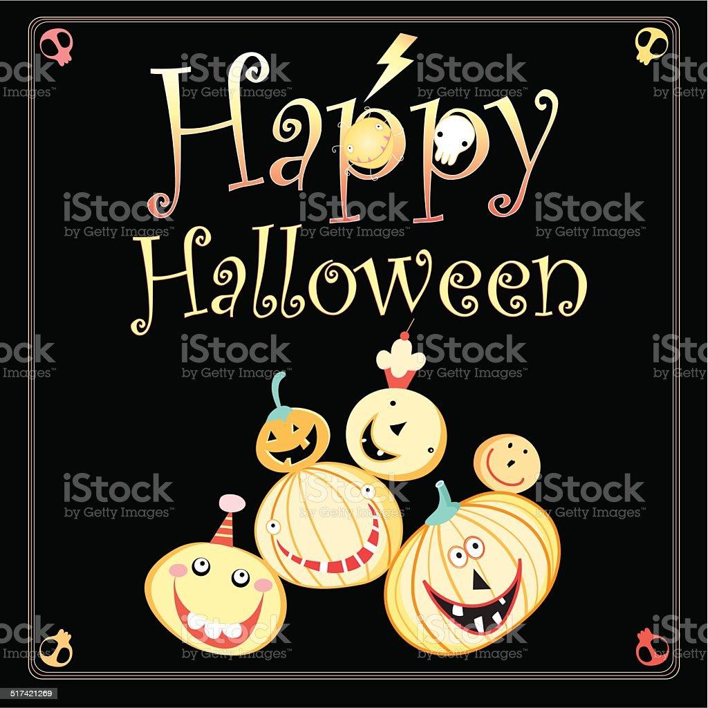 Greeting card for Halloween vector art illustration
