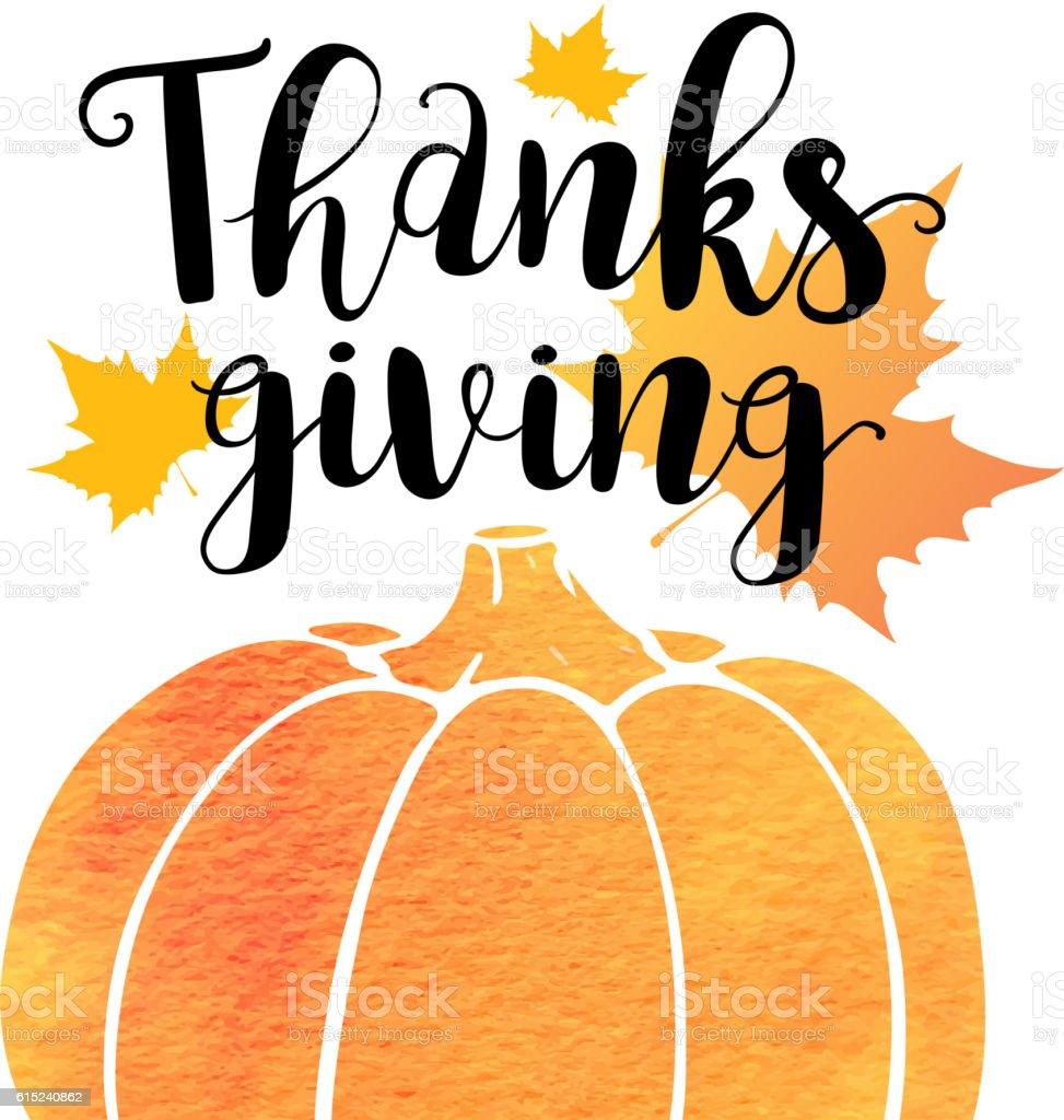 Greeting card for Thanksgiving Da vector art illustration