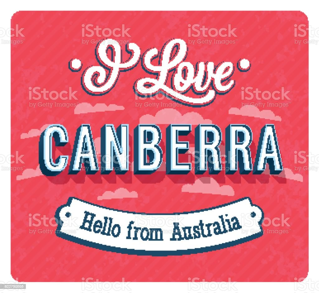 Greeting Card From Canberra Australia Stock Vector Art 822750556