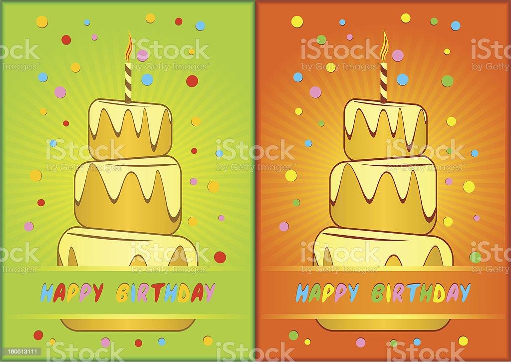 Greeting card happy birthday. royalty-free stock photo