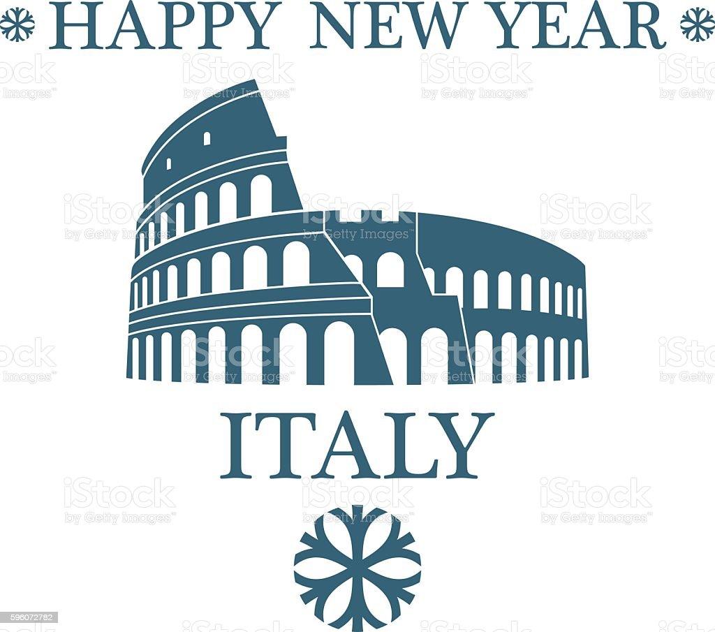Greeting Card. Italy vector art illustration