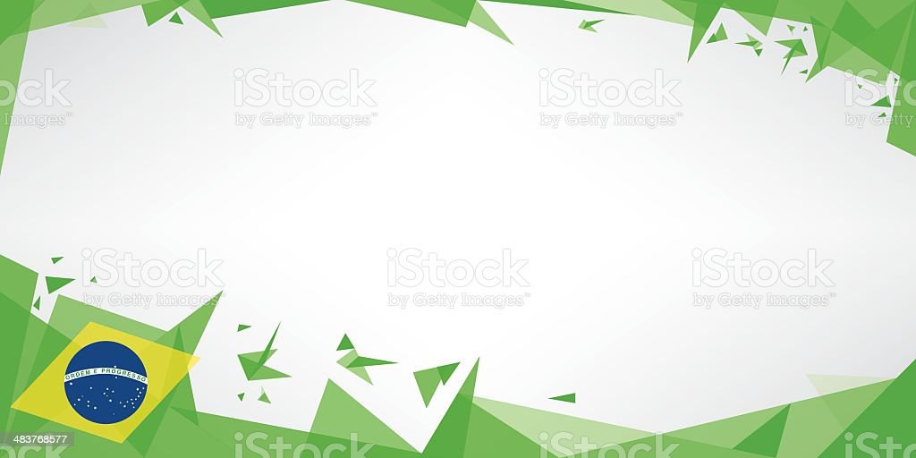 Greeting card origami of brazil vector art illustration