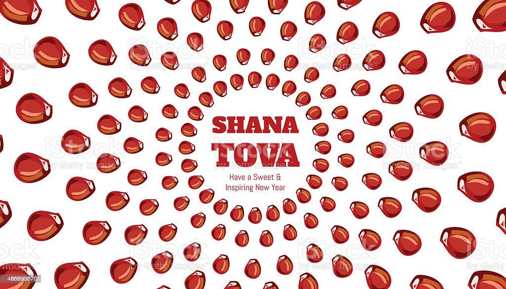 SHANA TOVA - Greeting card vector art illustration