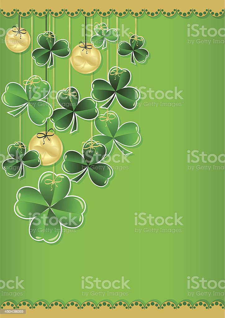 Greeting Card with clover royalty-free stock vector art