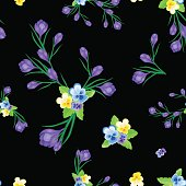 greeting card with crocuses black-01