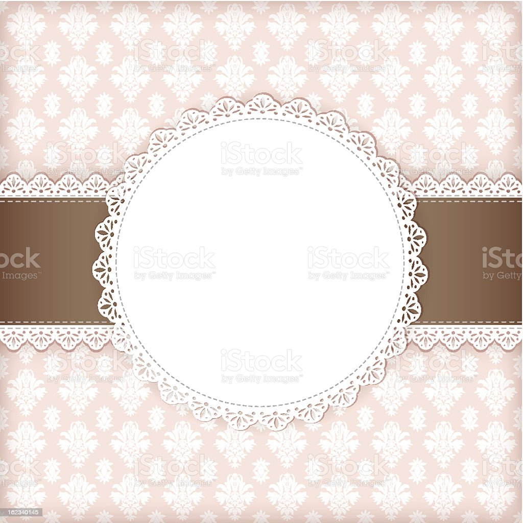 Greeting card with frame. vector art illustration