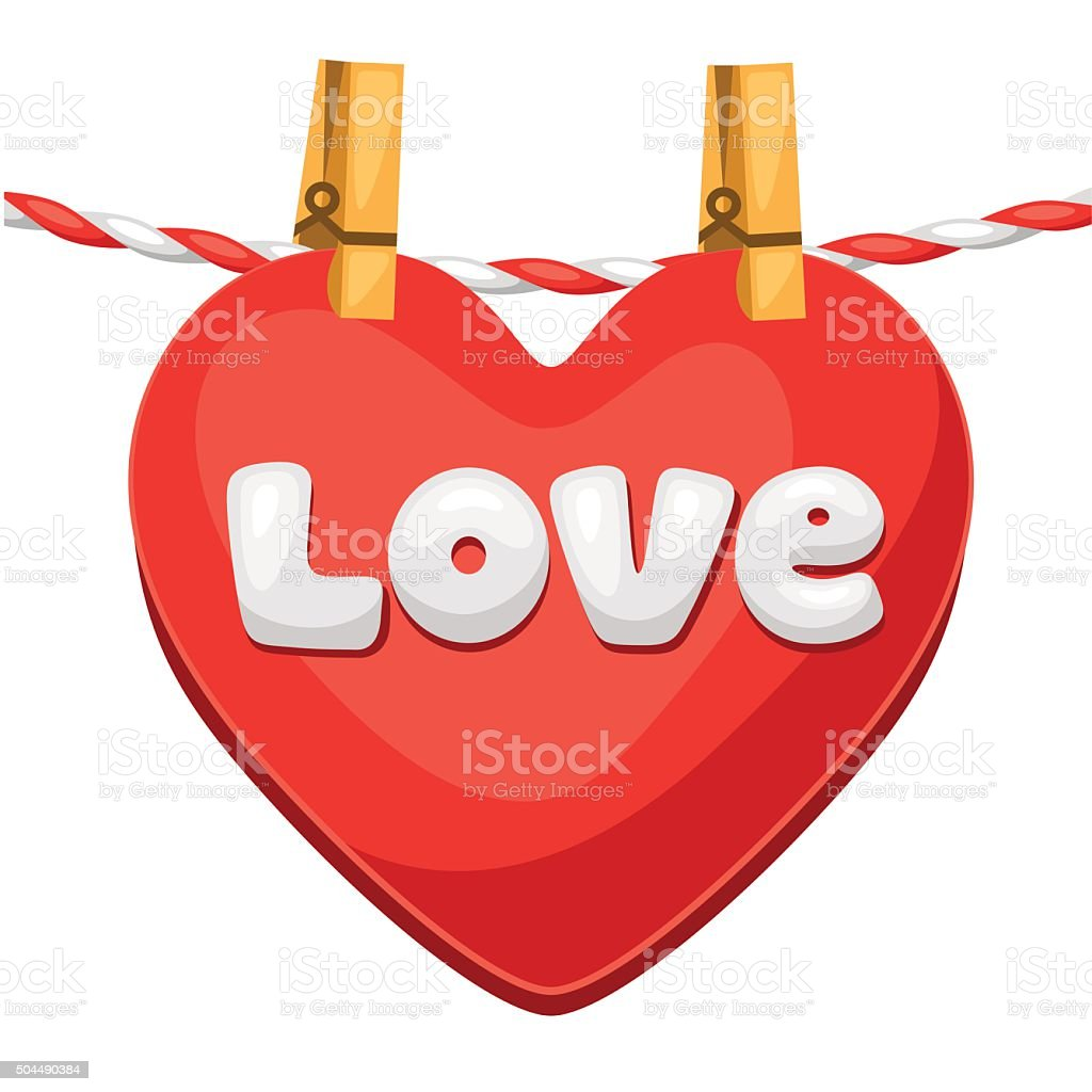 Greeting card with heart. Concept can be used for Valentines vector art illustration