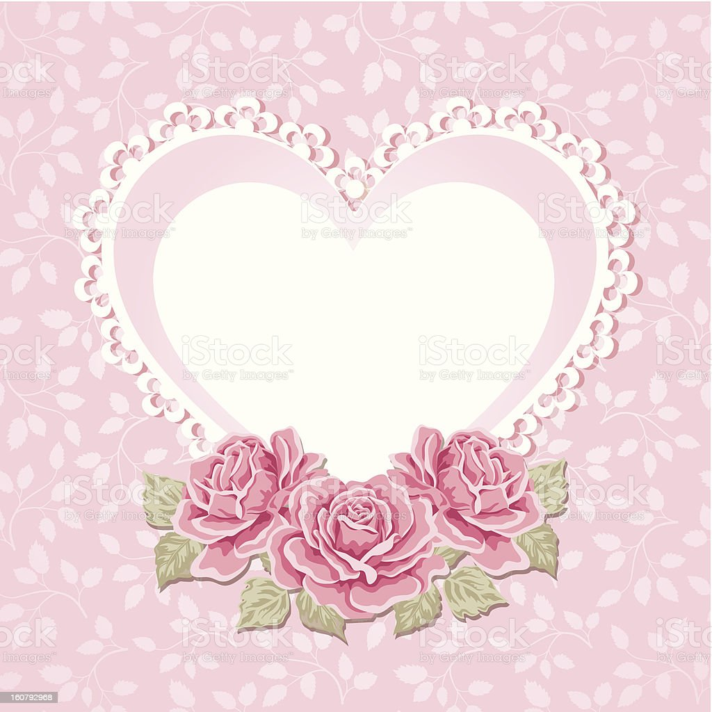 Greeting card with heart shape. Valentine's day background. royalty-free stock vector art