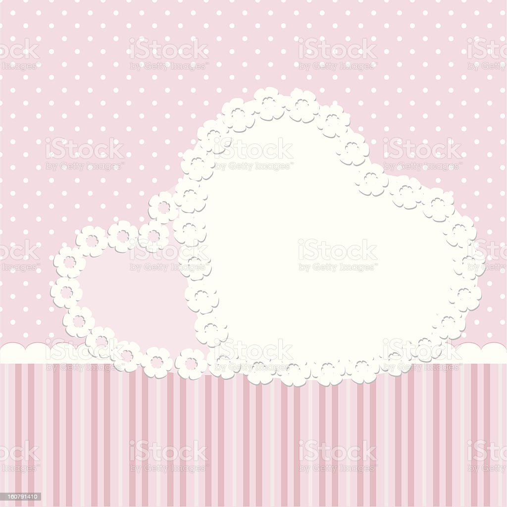 Greeting card with hearts royalty-free stock vector art