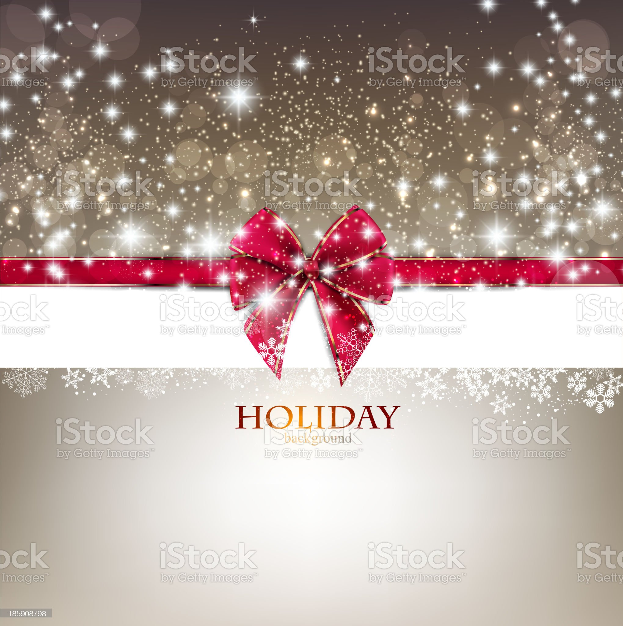 Greeting card with red bow and copy space. Vector illustration royalty-free stock vector art