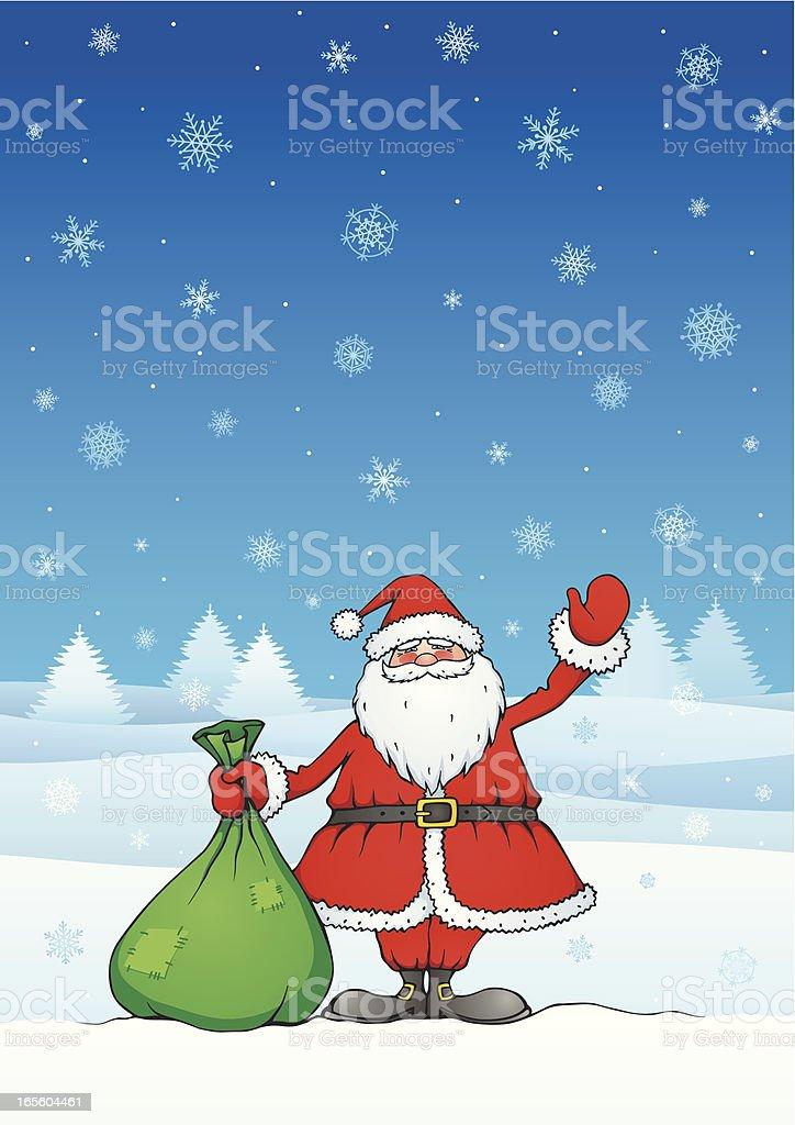 Greeting card with Santa Claus royalty-free stock vector art