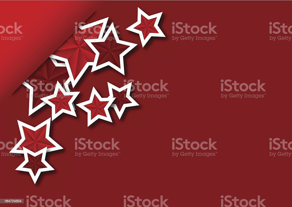 Greeting card with the stars royalty-free stock vector art
