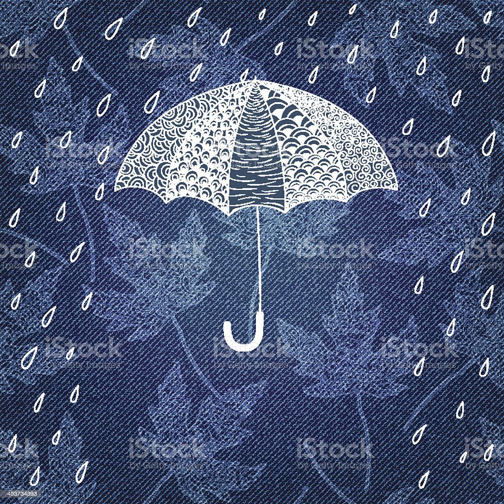Greeting card with umbrella. royalty-free stock vector art