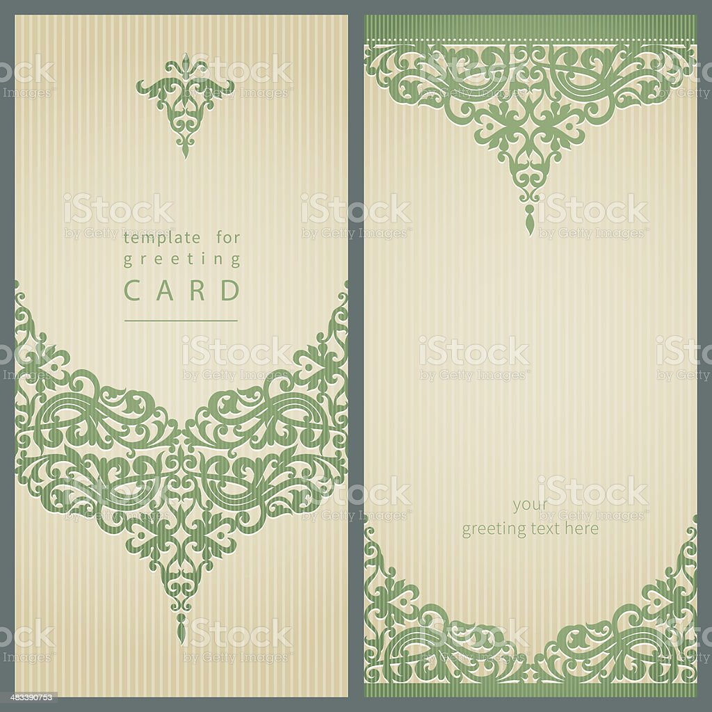 Greeting cards. vector art illustration