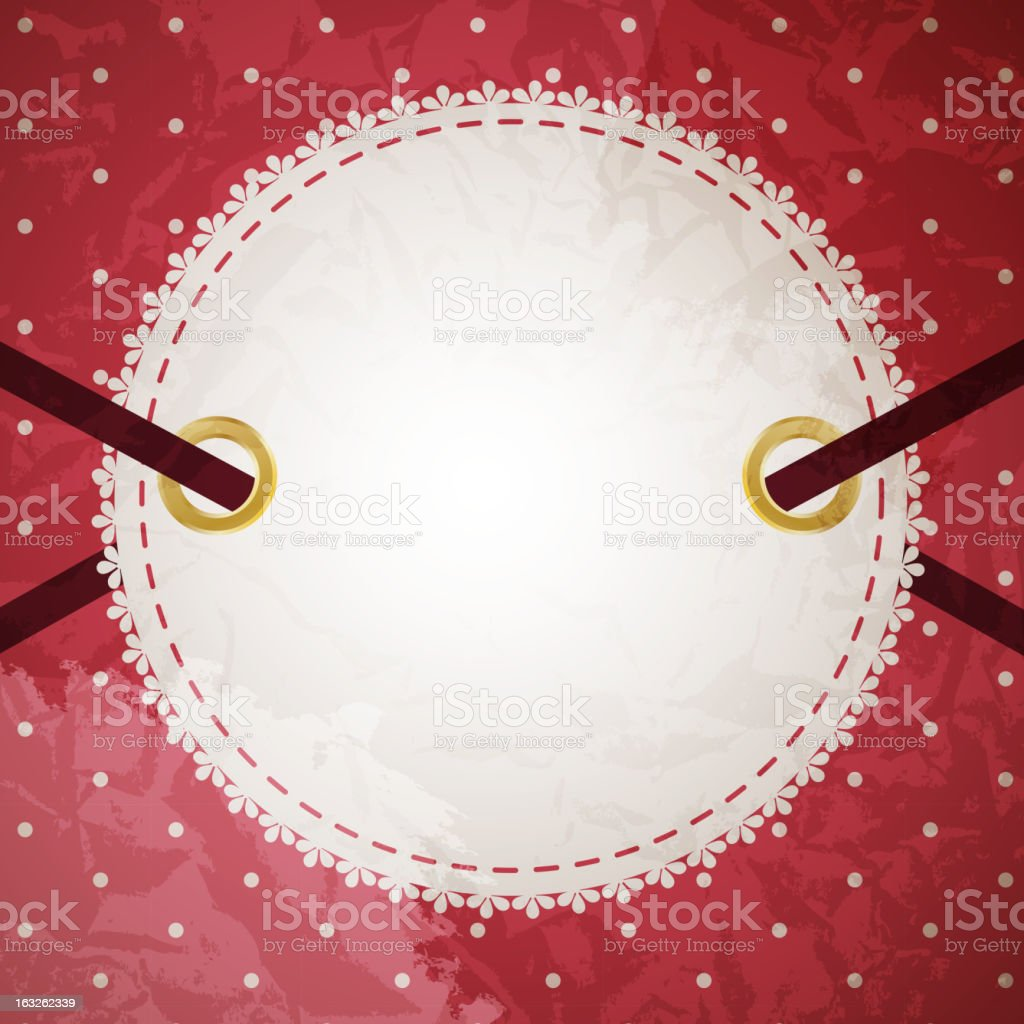 Greeting scrap retro background with empty photo blank. vector illustration royalty-free stock vector art