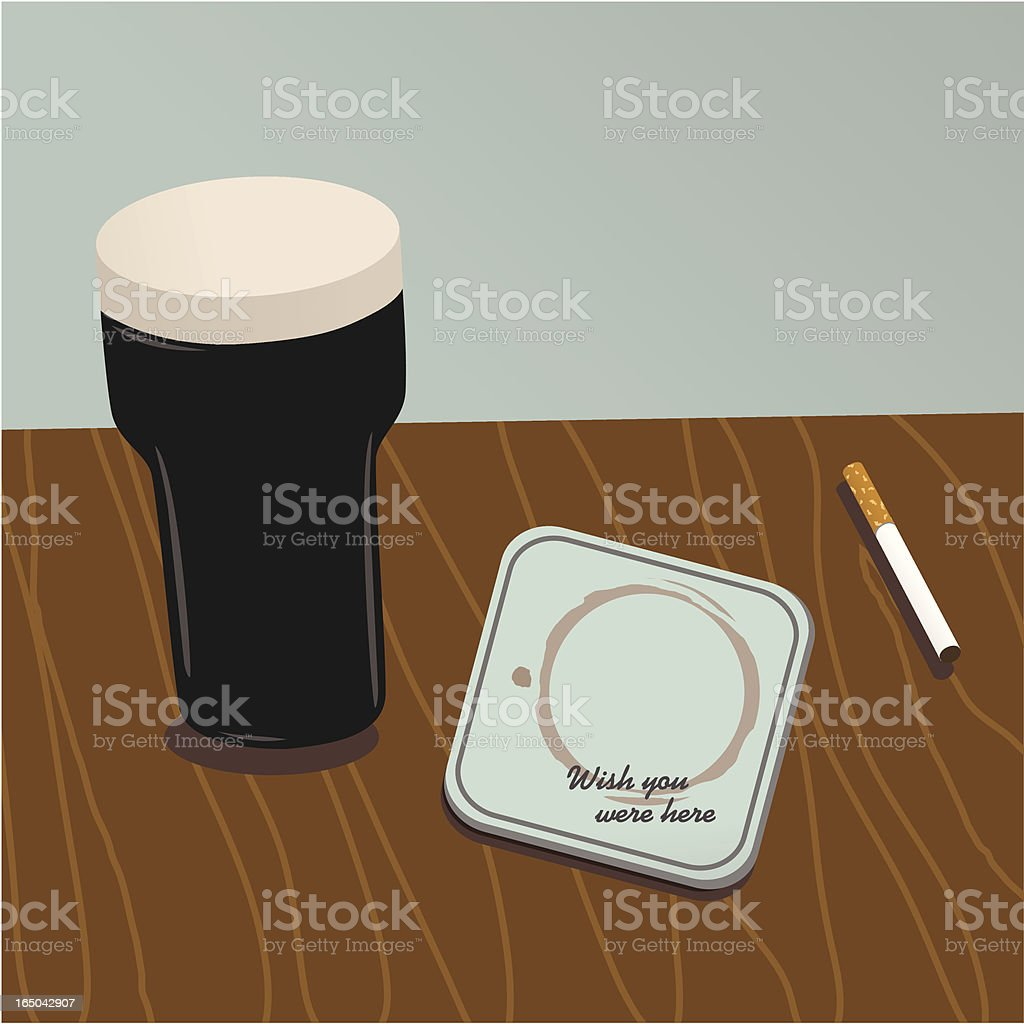 Greetings from a pub vector art illustration
