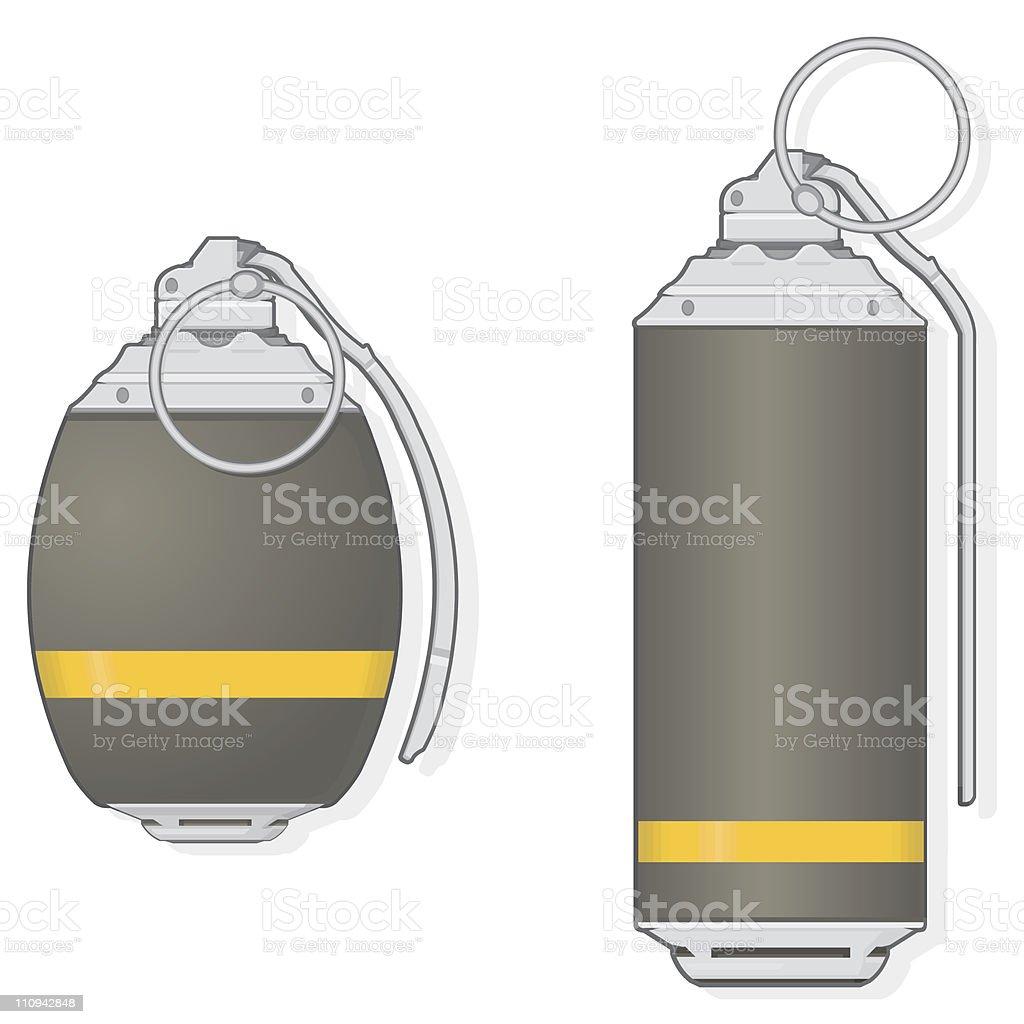 Grenades royalty-free stock vector art