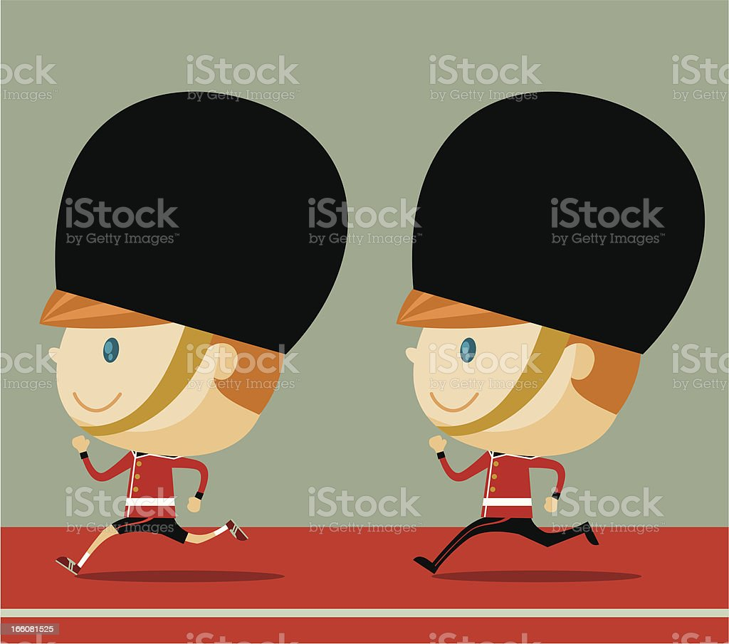 Grenadier Runner royalty-free stock vector art