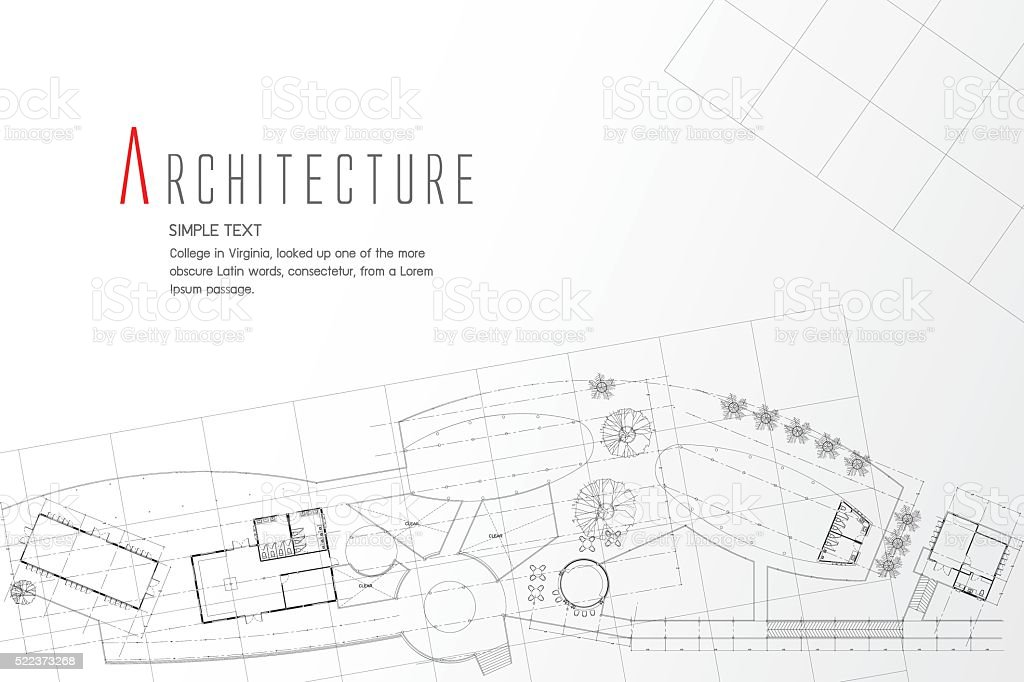 Grey abstract background. Architectural theme. Working drawings vector art illustration